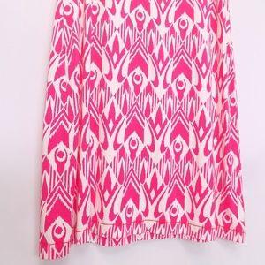 Hatley Dresses - Hatley short sleeve Sheath dress pink and white